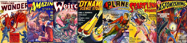 Vintage Science Fiction Comic Covers Image Collection